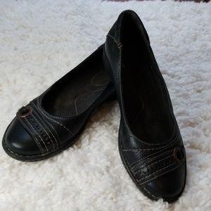 Clark Black Leather Slip On sz 7.5